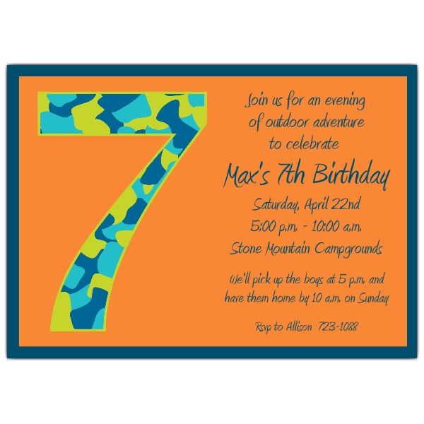 eighth birthday invitation wording ; Birthday-Boy-Camo-7th-Birthday-Invitations-p-602-57-1049-z