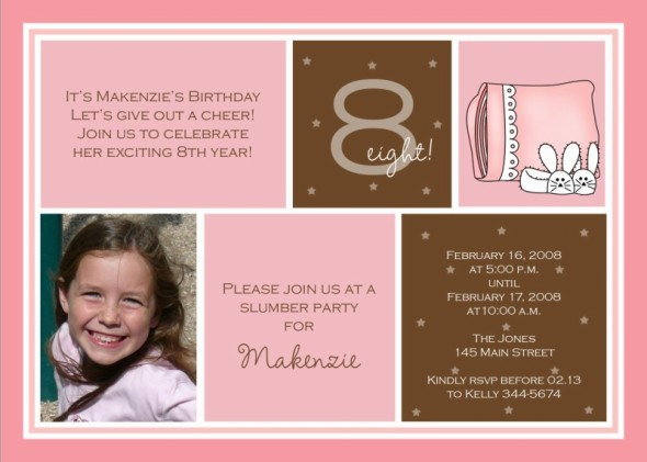 eighth birthday invitation wording ; eight3