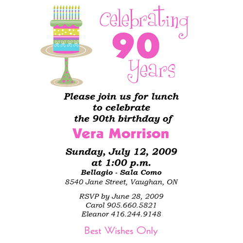 eighth birthday invitation wording ; vera90invite