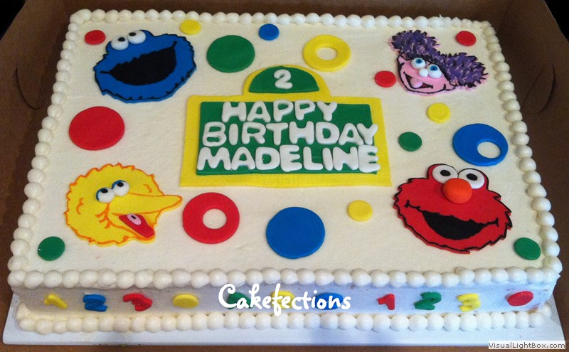 elmo birthday cake edible image ; 526fe11b1f075da1272d3bbaf4b5cd93