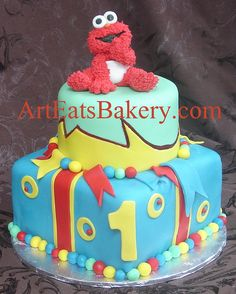 elmo birthday cake edible image ; 5b8539863369207f1f4417cadb05c50e--elmo-birthday-st-birthday-cakes