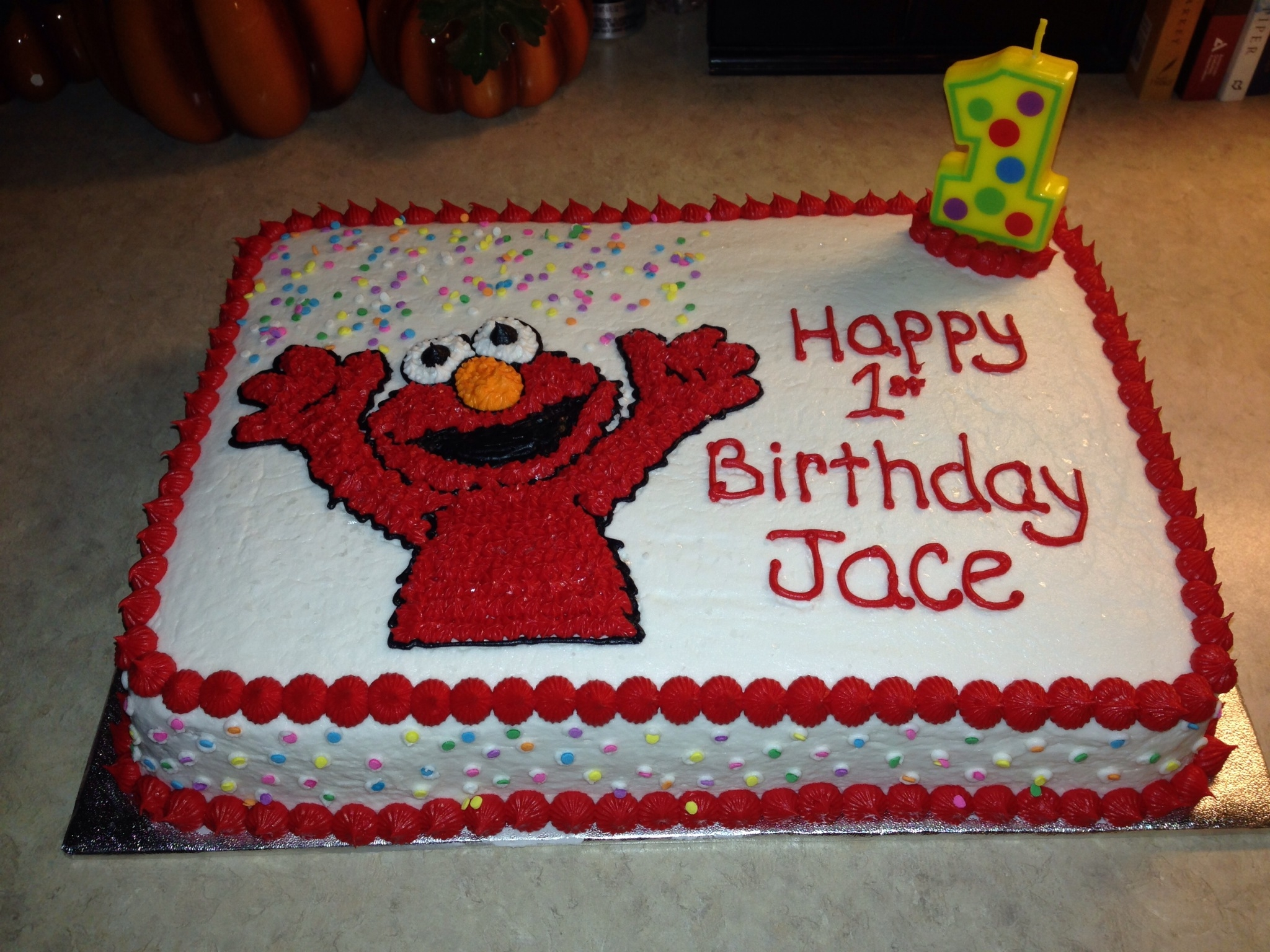elmo birthday cake edible image ; 900_298880r0s_first-birthday-cake-for-a-friends-little-grandson-its-a-chocolate-cake-with-buttercream-frosting-i-got-the-elmo-design-from-some-color