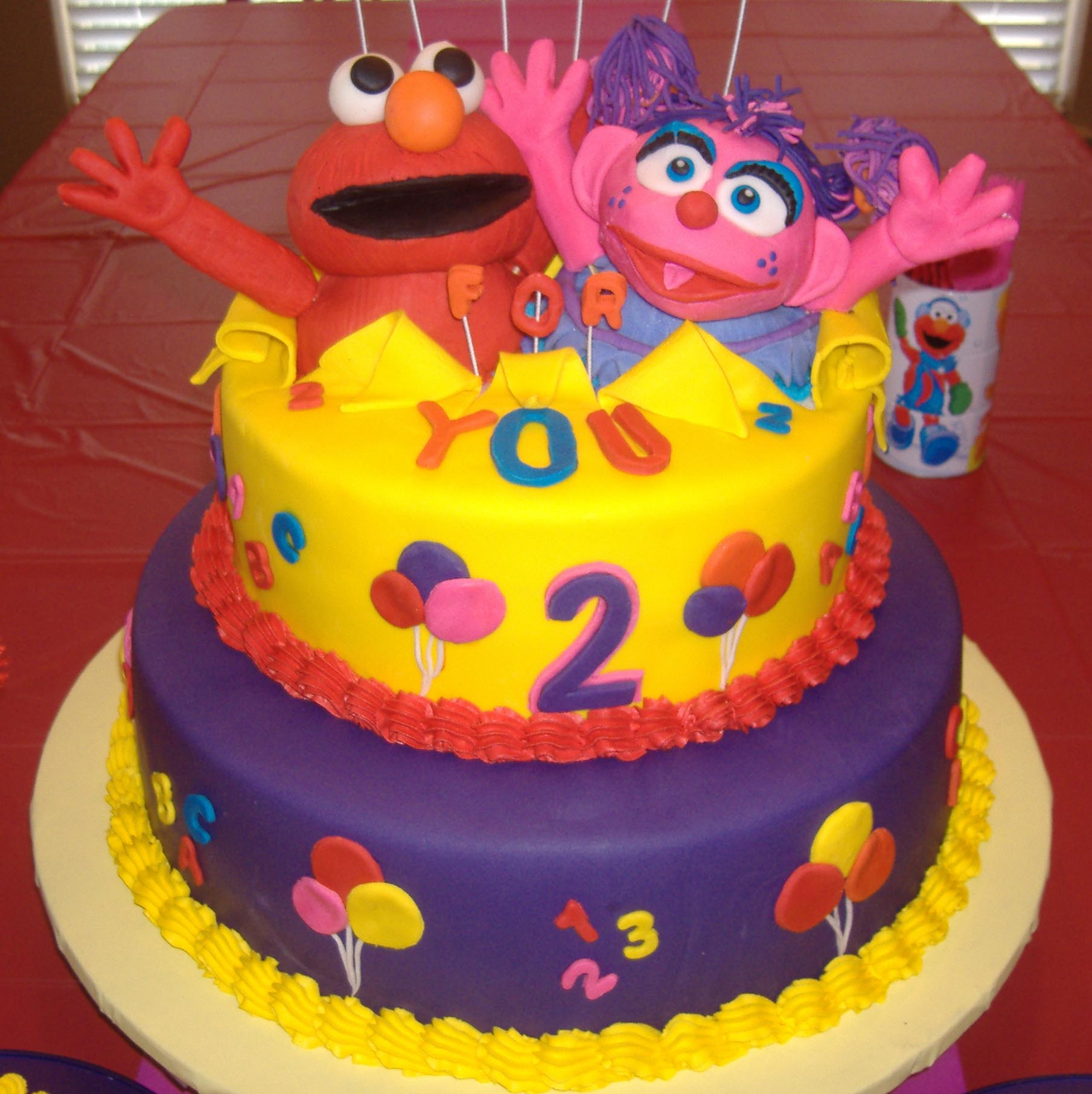 elmo birthday cake edible image ; Elmo-Birthday-Cake