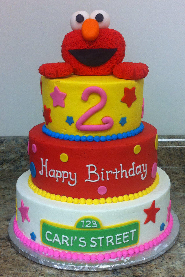 elmo birthday cake edible image ; Elmo-Edible-Cake-Images