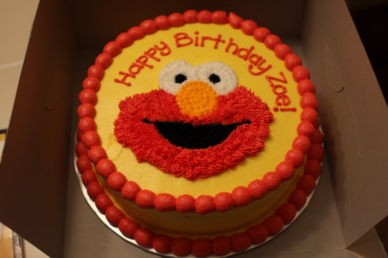 elmo birthday cake edible image ; Pictures-of-Elmo-Cakes