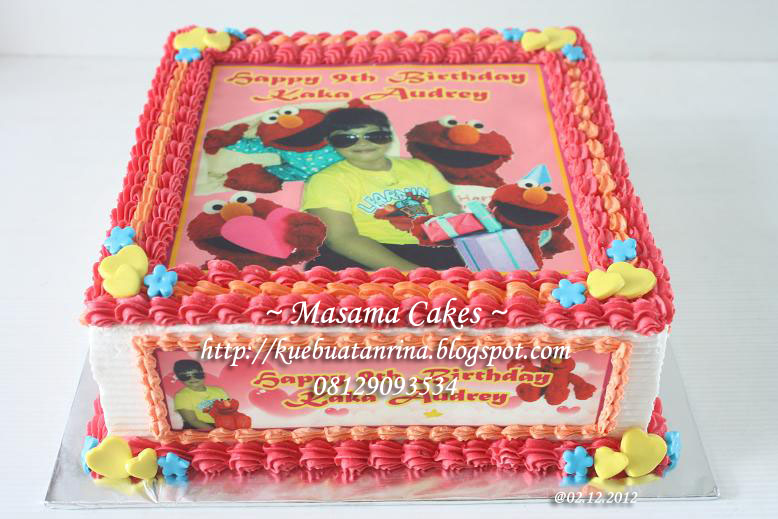 elmo birthday cake edible image ; bday+cake+audrey+%252528rainbow_elmo%252529