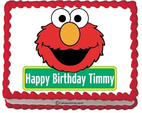 elmo birthday cake edible image ; elmo_edible