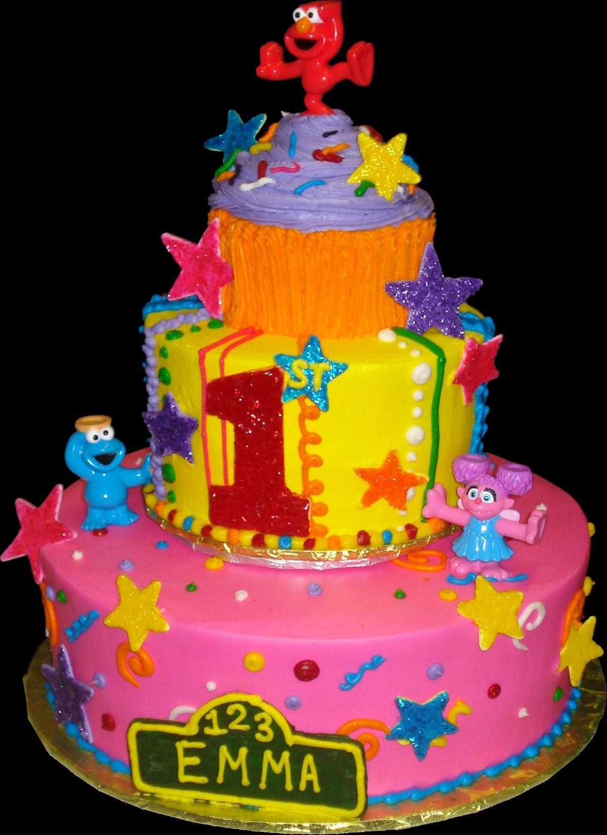 elmo birthday cake edible image ; seasameCake