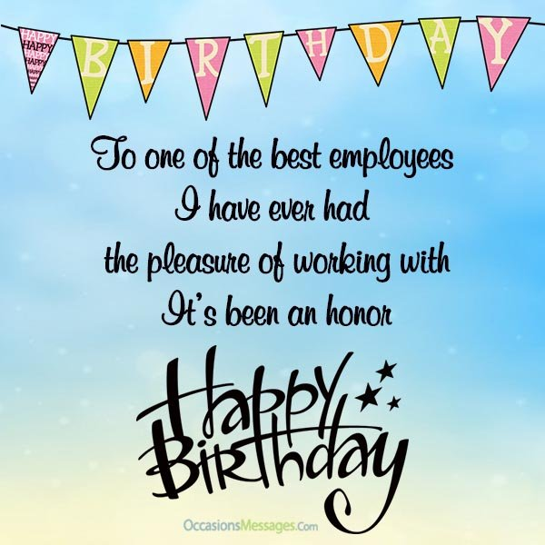 Employee Birthday Card Messages Wishes For Employees