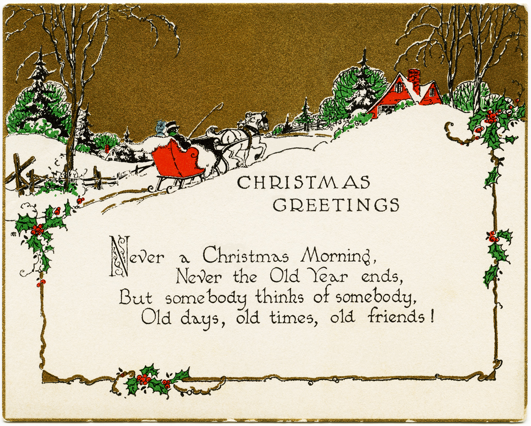example of birthday card message ; OldDesignShop_ChristmasGreetingsCard