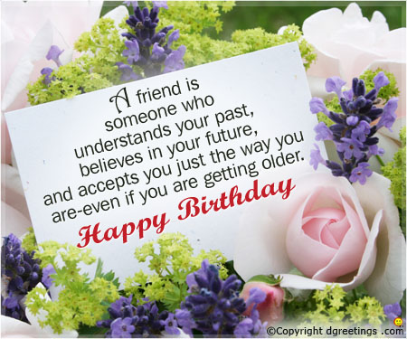 example of birthday card message ; a-friend-birthday-card
