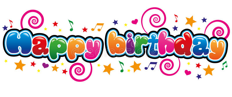 fancy birthday banner ; happy-birthday-banner-bubble-font-86215752