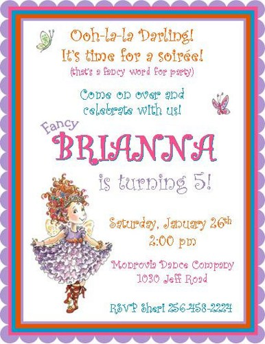 fancy nancy birthday invitation template ; 12_printed_fancy_nancy_inspired_personalized_birthday_invitations_-_various_styles_available_dedec778