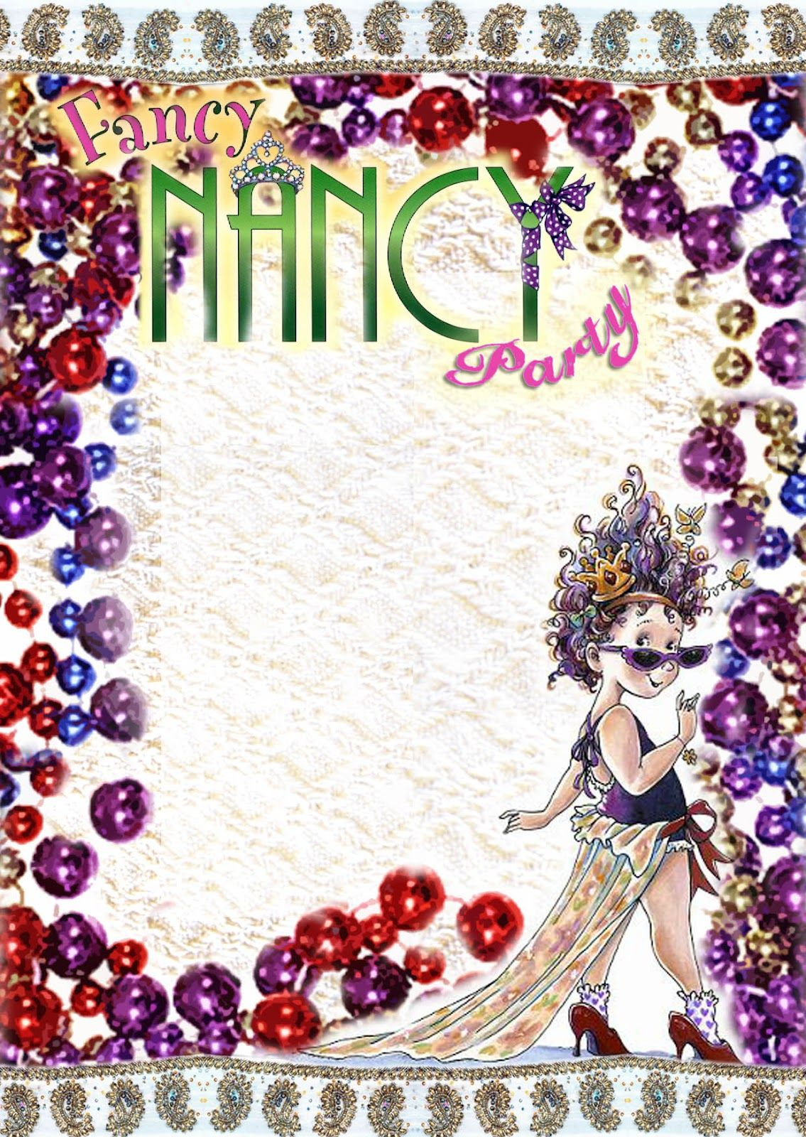 fancy nancy printable birthday invitations ; 3406d6ccc1403a7af9f123650787aa11