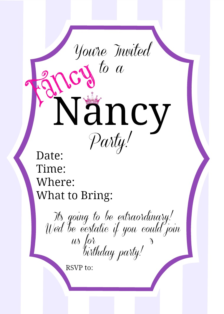fancy nancy printable birthday invitations ; Fancy-Nancy-Invitation-Example-by-PartiesforPennies