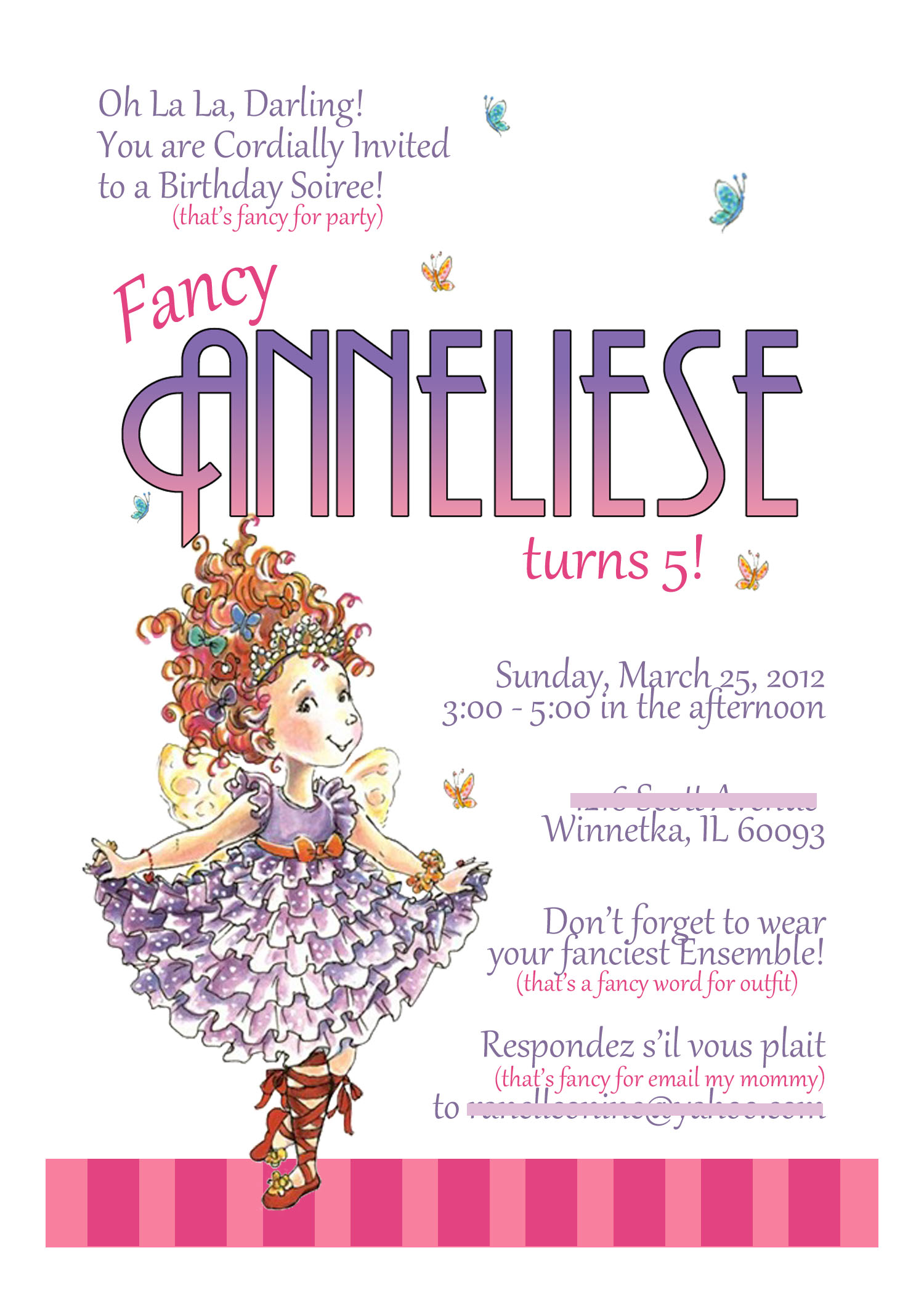 fancy nancy printable birthday invitations ; anneliese5invite