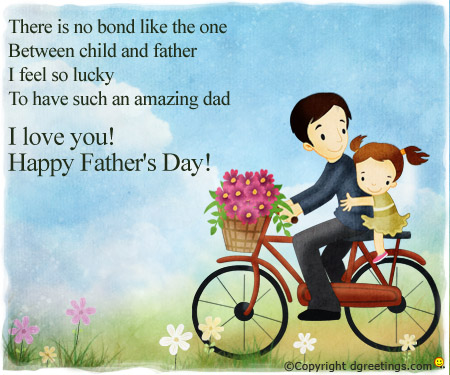 father's birthday card message ; fathersday-general14