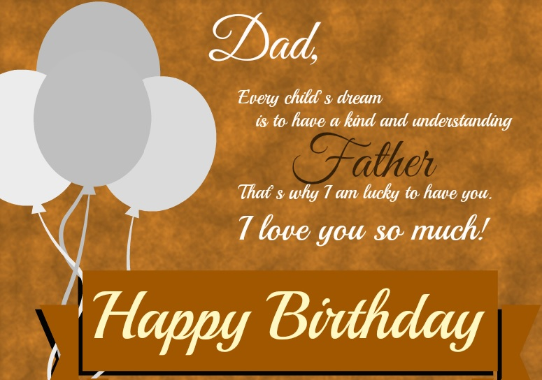 father's birthday card message ; happy-birthday-wishes-for-father