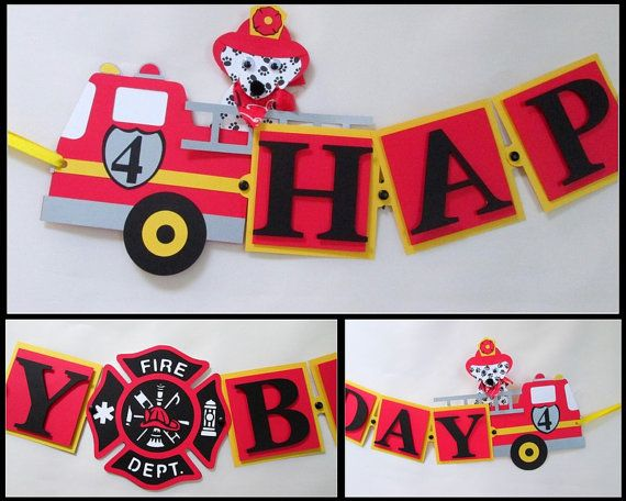 fire truck birthday banner ; c9ddc08996928391a3b7f9cedae59624--police-party-fire-fire