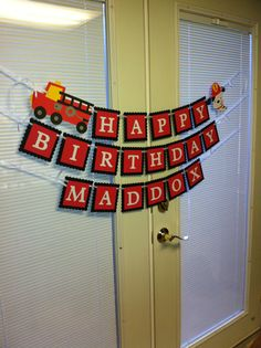 fire truck birthday banner ; cd10a9a9628731e95fe9d52d38c74700--party-items-first-names