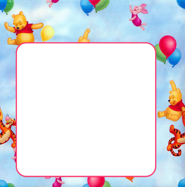 first birthday borders ; 6F7FFE_fun-birthday-borders-poohbear
