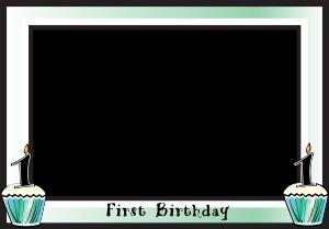 first birthday borders ; first-birthday-border