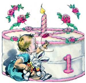 first birthday cake clipart ; A_Baby_and_a_First_Birthday_Cake_Royalty_Free_Clipart_Picture_091107-134459-288009