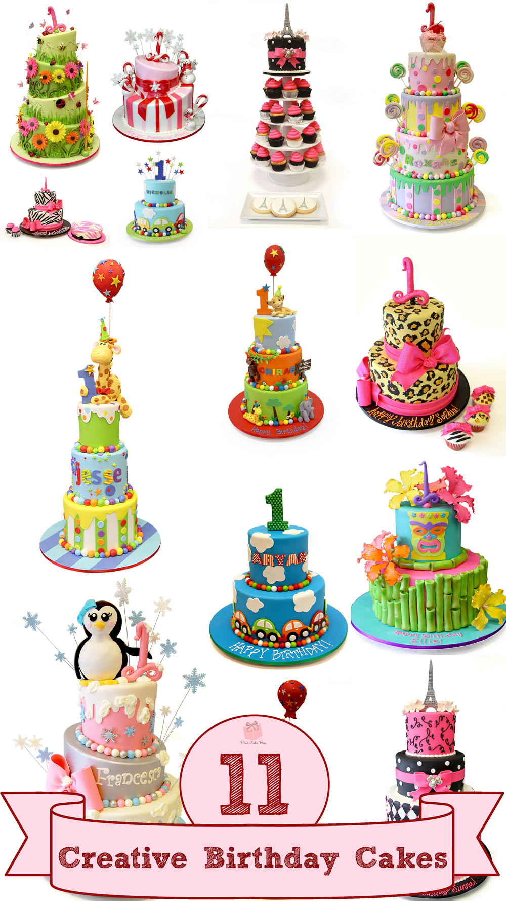 first birthday cake clipart ; creative-first-birthday-1st-cakes