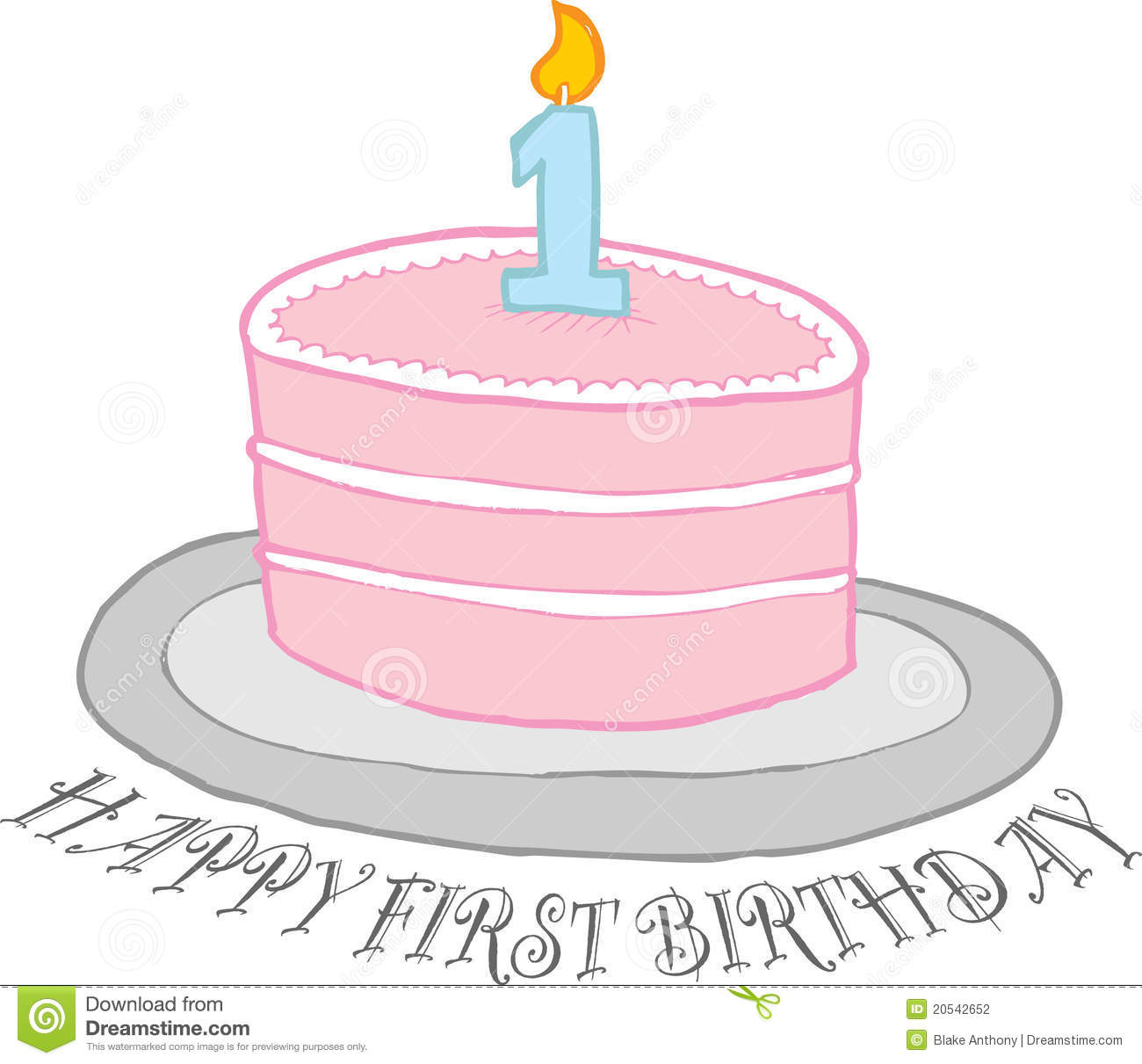 first birthday cake clipart ; happy-first-birthday-cake-20542652