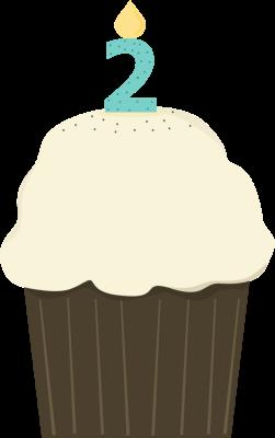first birthday cake clipart ; second-birthday-cupcake