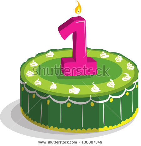 first birthday cake clipart ; stock-vector-first-birthday-cake-100887349