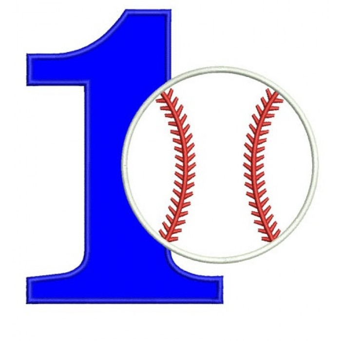 first birthday design ; First-Birthday-Number-1-Baseball-Design-Machine-Embroidery-Digitized-Applique-Pattern-Instant-Download-4x4--5x7-and-6x10-hoops-700x700