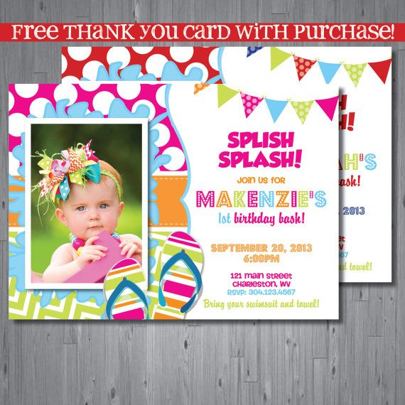 first birthday pool party invitation wording ; 3bd777e45b98abfebb8029077b51b813