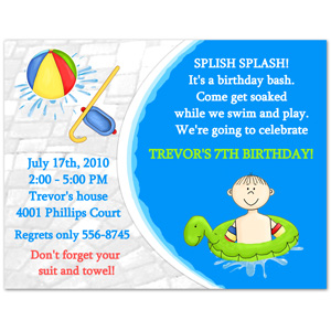 first birthday pool party invitation wording ; PoolPartyDsp