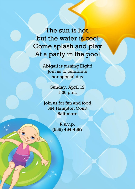 first birthday pool party invitation wording ; bd24ddd174807bd6e37e1af9271e79ea--swimming-pool-parties-girls-swimming