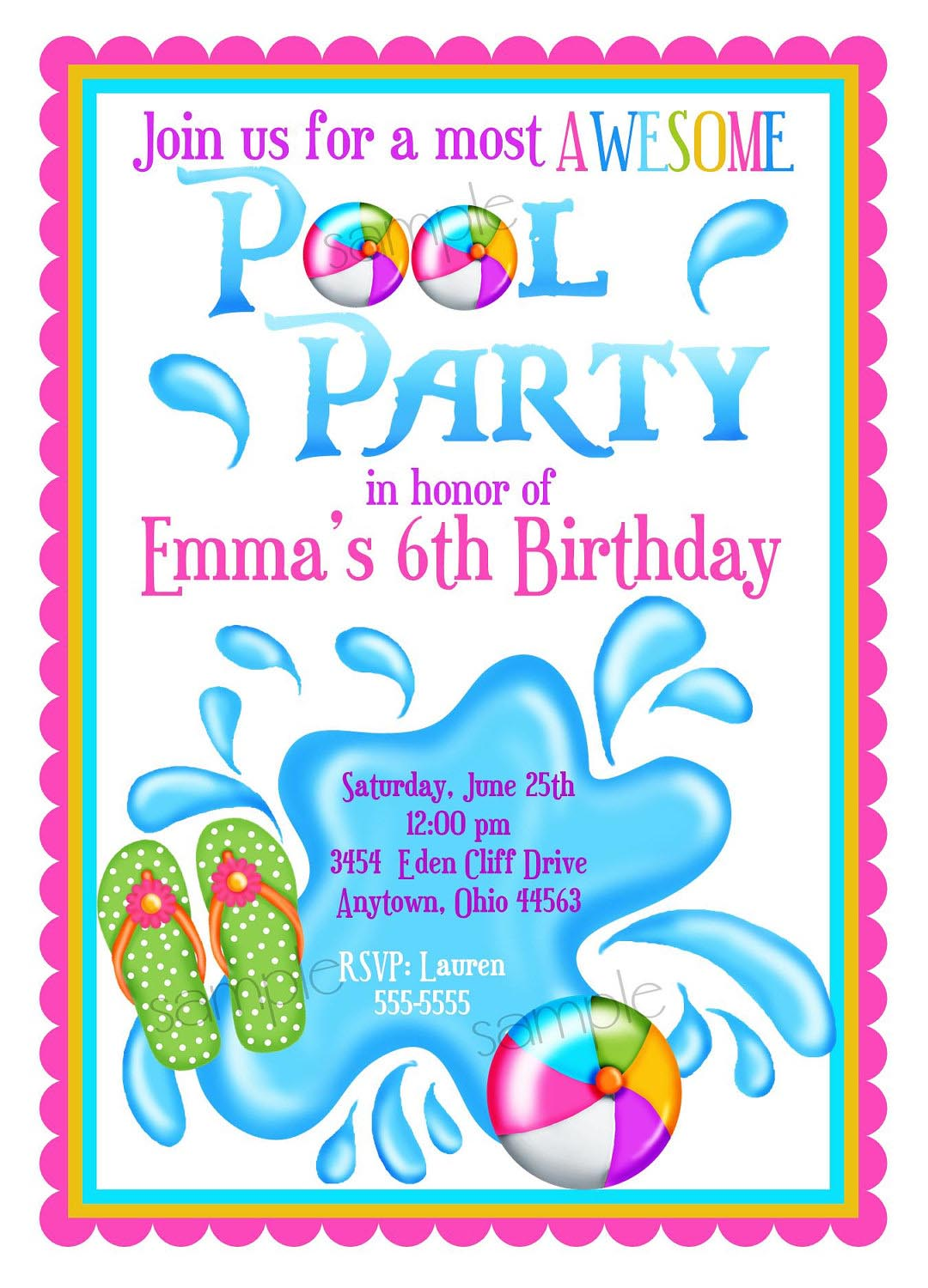 first birthday pool party invitation wording ; bf8748fad3b7673d387288d7357f8f3d