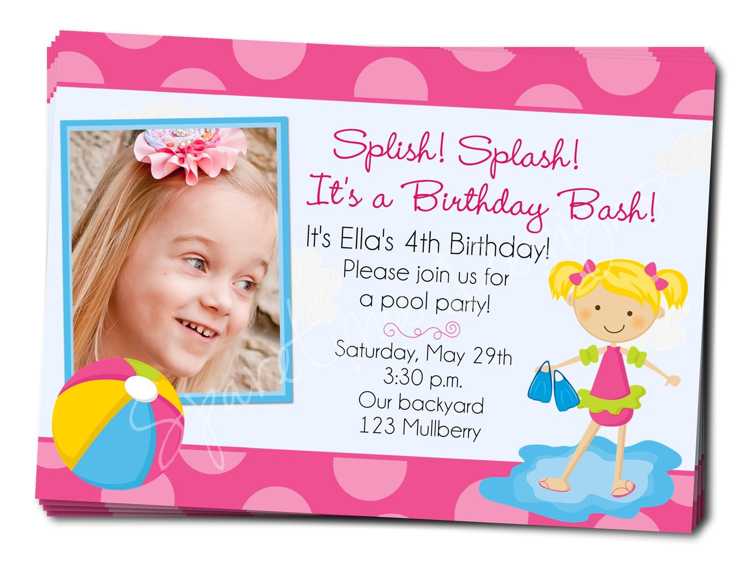 first birthday pool party invitation wording ; birthday_pool_party_invitation_wording_2