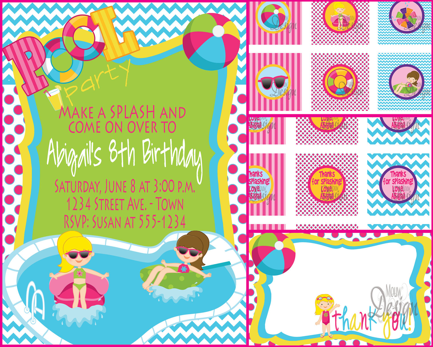 first birthday pool party invitation wording ; birthday_pool_party_invitations_free_8