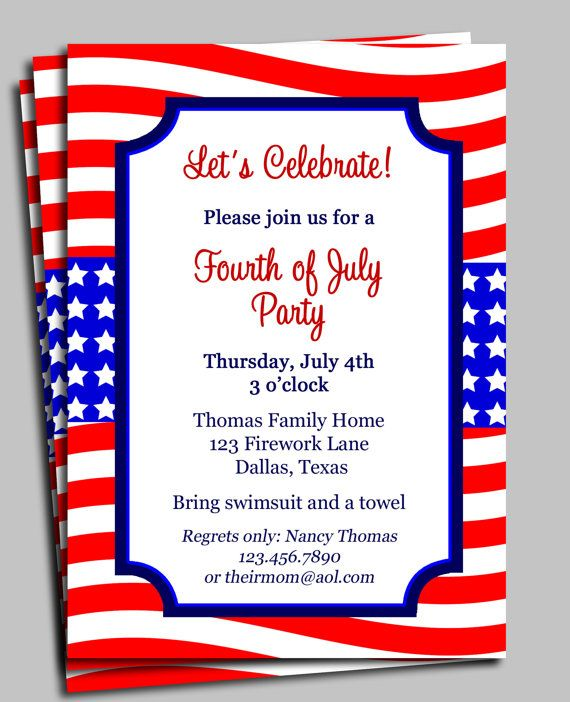 Fourth Of July Birthday Invitation Wording 4777dbfd506142466bff8d403f0bd259