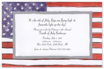 Fourth Of July Birthday Invitation Wording 4th Party