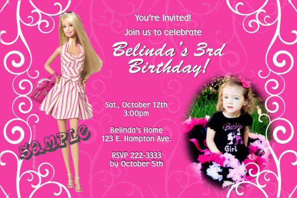 free barbie birthday invitation templates ; barbie-birthday-invitations-with-extraordinary-invitations-for-resulting-an-extraordinary-outlook-of-your-Birthday-Invitation-Templates-15