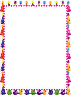 free birthday borders for microsoft word ; afbc50b1a8e7fab7cdae2af7a9b987fa--birthday-letters-party-hats