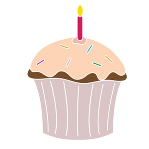 free birthday cupcake clipart ; clip_art_illustration_of_a_cupcake_with_pink_frosting_and_sprinkles_and_a_red_lit_candle_0515-0912-1919-5055_SMU
