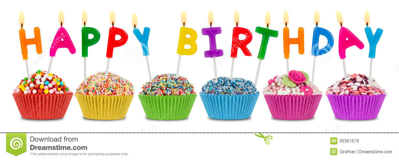 free birthday cupcake clipart ; happy-birthday-cupcakes-row-lettering-35361579