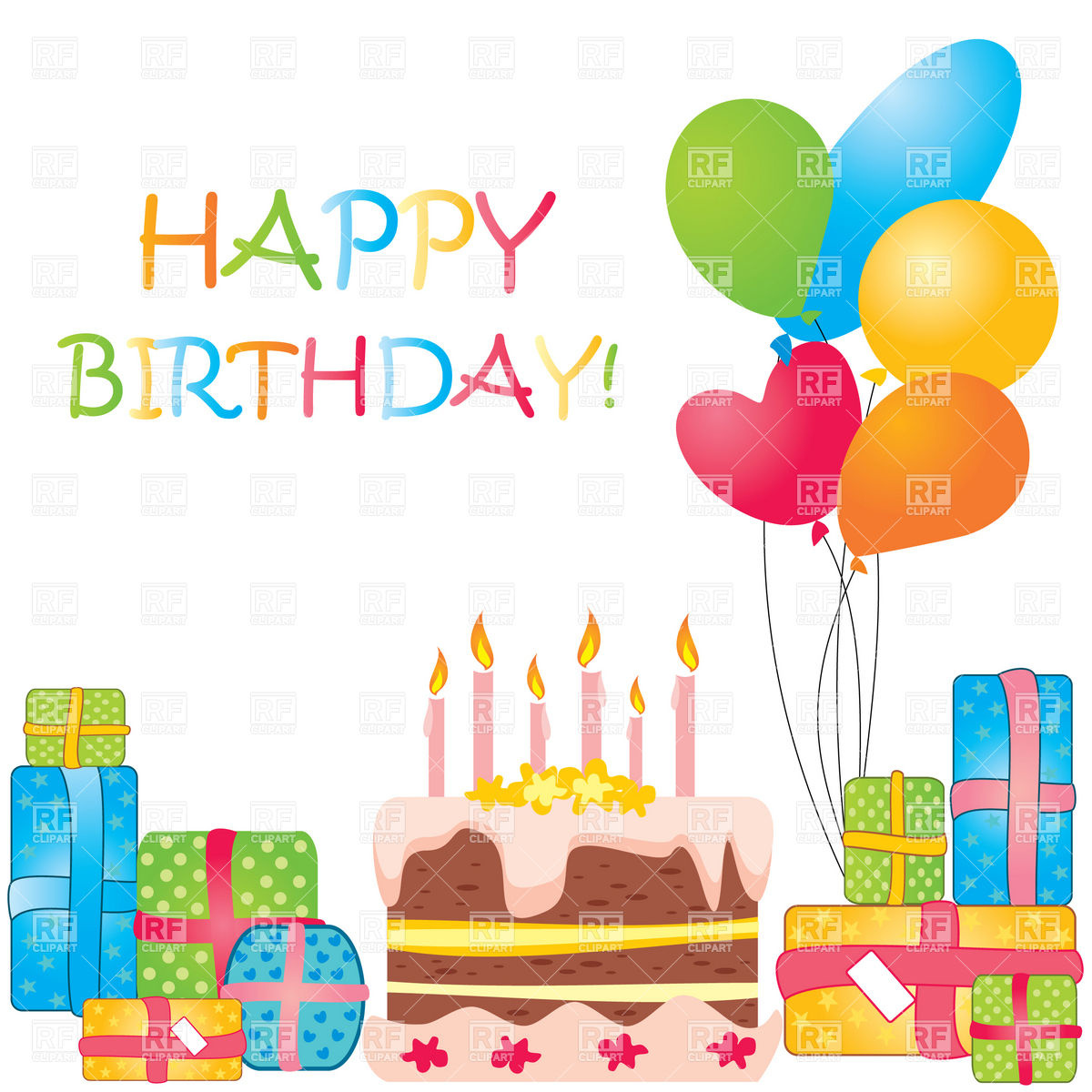 free birthday downloads cliparts ; birthday-cake-and-balloons-clipart-3