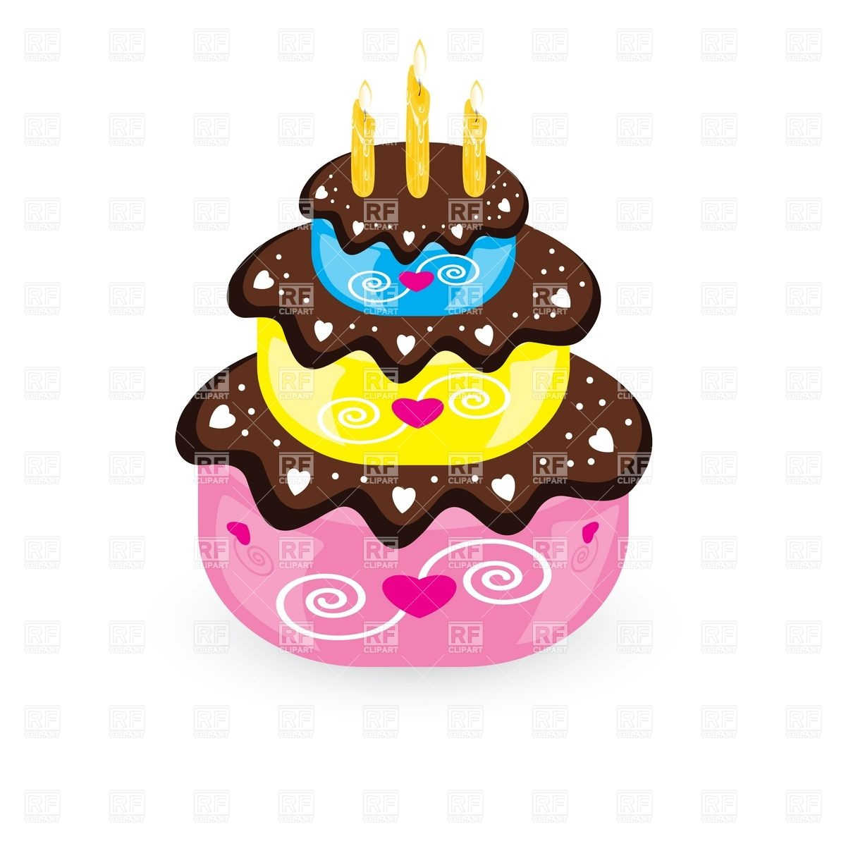 free birthday downloads cliparts ; birthday-cake-and-candle-Download-Royalty-free-Vector-File-EPS-15050