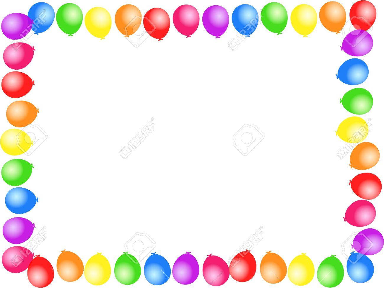 free birthday page borders ; 4592723-colourful-birthday-party-balloon-page-border-design-