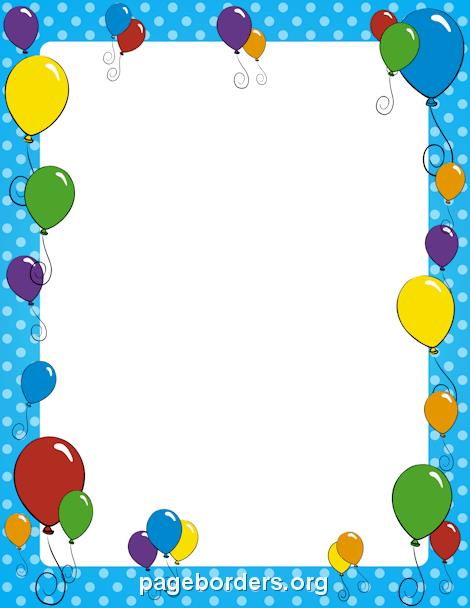 free birthday page borders ; balloon-border-preview