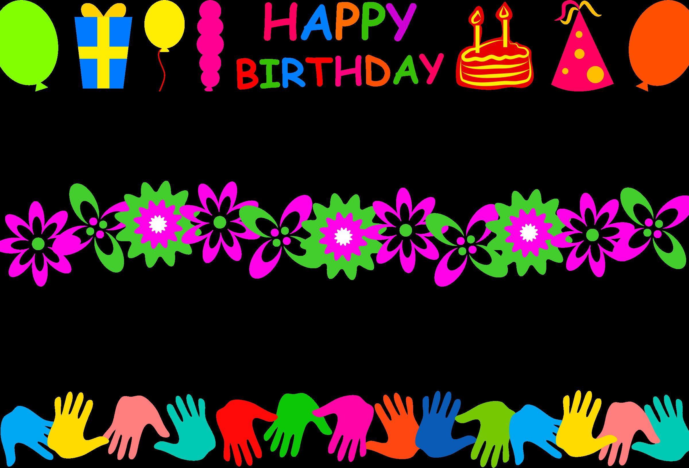 free birthday page borders ; page-borders