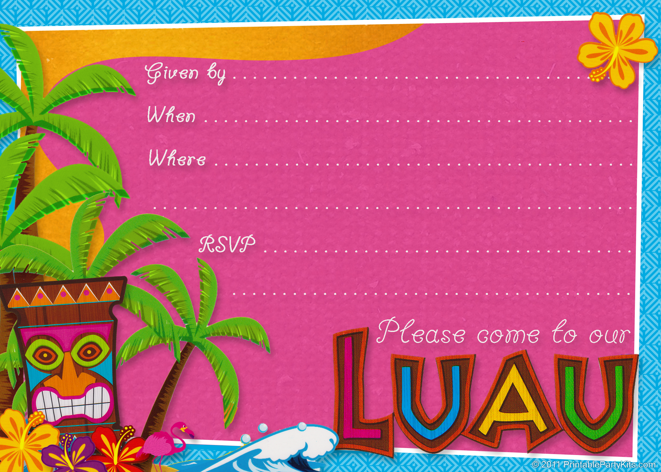 free birthday party invitation templates for mac ; Luau-Birthday-Invitations-Templates